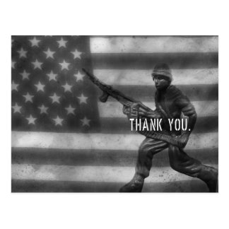 Soldier Thank You Postcard