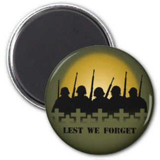 Soldier Tribute Magnet Lest We Forget War Gifts