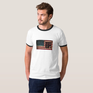 Soldier UP! American Flag White T-Shirt