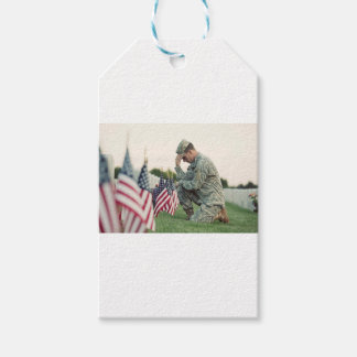 Soldier Visits Graves On Memorial Day Pack Of Gift Tags
