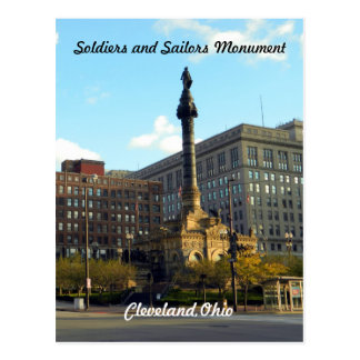Soldiers and Sailors Cleveland Ohio Postcard