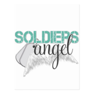 Soldiers Angel Green Postcard