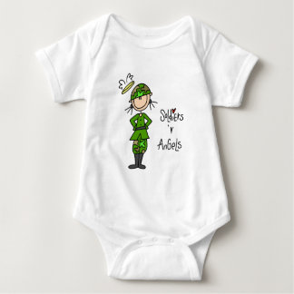 Soldiers Are Angels (Female) Baby T-shirt