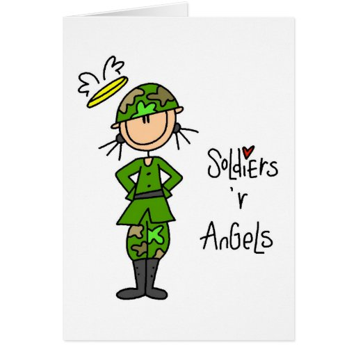 Soldiers Are Angels (Female) Greeting Card