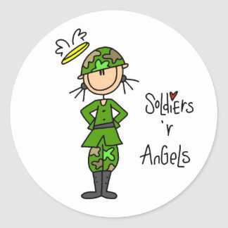 Soldiers Are Angels (Female) Stickers