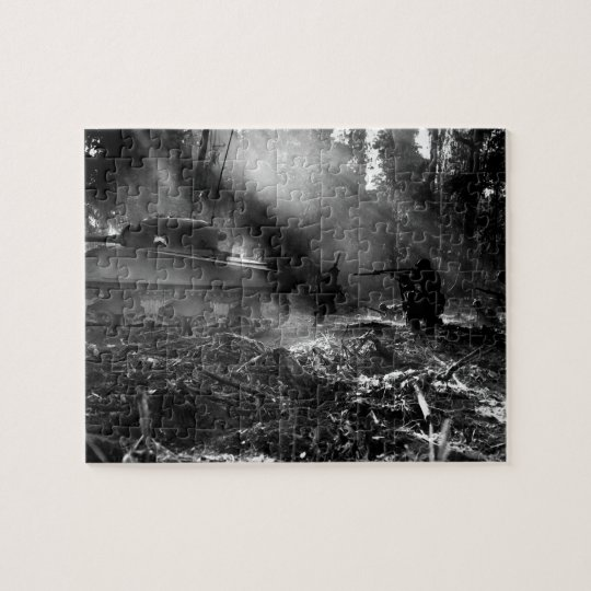 Soldiers at Bougainville (Solomon Islands) 1944 Jigsaw Puzzle
