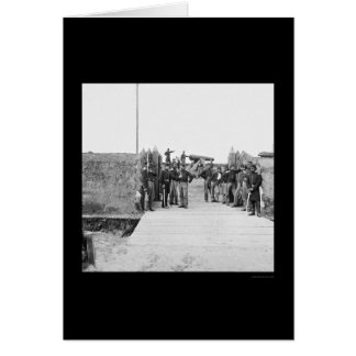 Soldiers at the Gate of Fort Slemmer 1865 Card