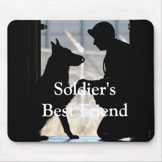 Soldier's Best Friend Mouse Pad