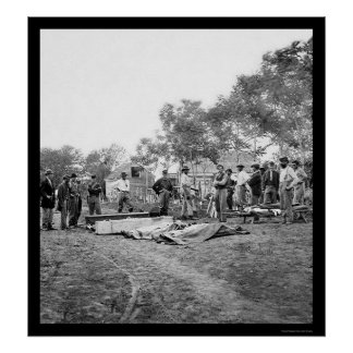Soldiers' Burial at Fredericksburg, Virginia 1864 Poster