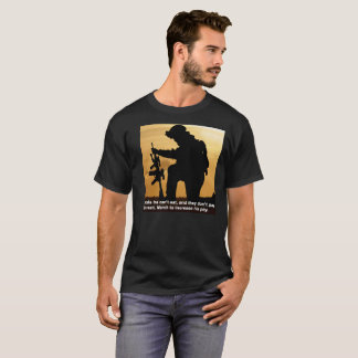 Soldiers Can't Eat Metals. March for his pay raise T-Shirt