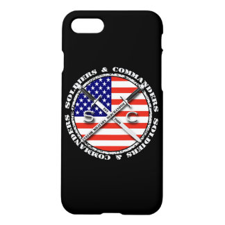 Soldiers & Commanders Circular Logo iPhone 7 Black iPhone 7 Case