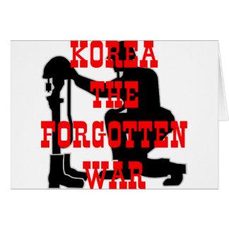 Soldiers Cross Korea The Forgotten War Greeting Card