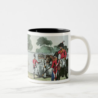 Soldiers Drilling, 1807 Two-Tone Coffee Mug