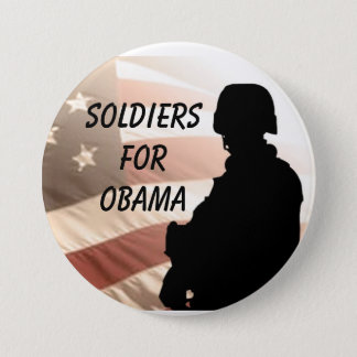 Soldiers For OBAMA 3 Inch Round Button
