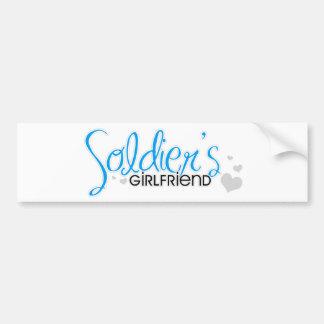 Soldier's Girlfriend (Bright Blue) Bumper Sticker