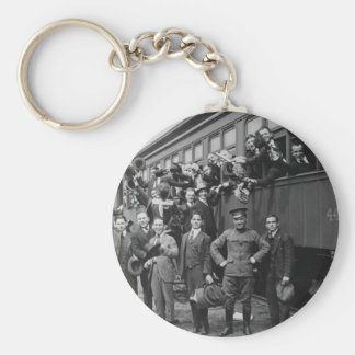 Soldiers Headed to Camp Upton During World War I Basic Round Button Keychain