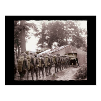 Soldiers in Line for Mail Postcard