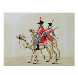 Soldiers of the Dromedary Regiment, 1839 Poster