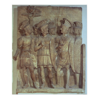 Soldiers of the Praetorian Guard, relief Poster