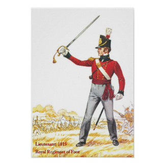 Soldiers of the Queen, Lieutenant Royal Regiment Poster