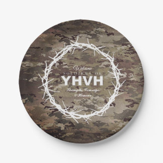 SOLDIERS OF YHVH Christian Paper Plate