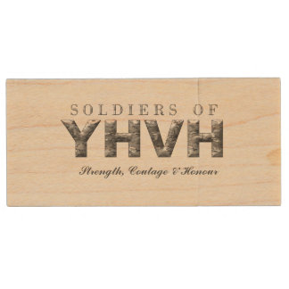 SOLDIERS OF YHVH WOOD USB FLASH DRIVE