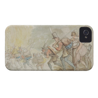 Soldiers on a March, 1805 (pen & ink and watercolo iPhone 4 Cases