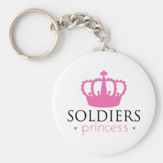 Soldiers Princess Basic Round Button Keychain