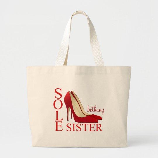 Sole Sister Red Stiletto Heels Design Tote Bag
