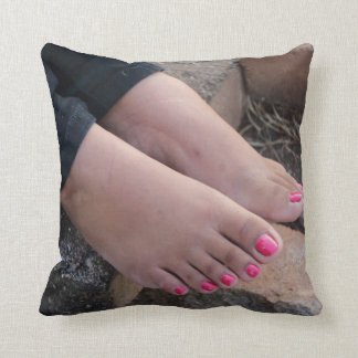 Sole Sisters Double-Sided Throw Pillow