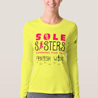 Sole Sisters Finish Wine - New Balance LS T-shirt