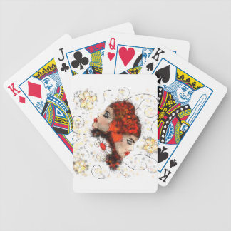 Solemissia - the real flower bicycle playing cards