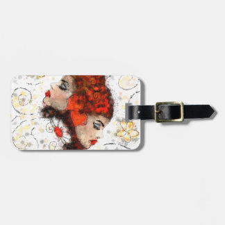 Solemissia - the real flower luggage tag