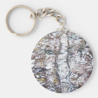 Solemn Passage (abstract expressionism) Basic Round Button Keychain