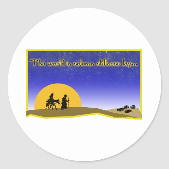Solemn Stillness Stickers