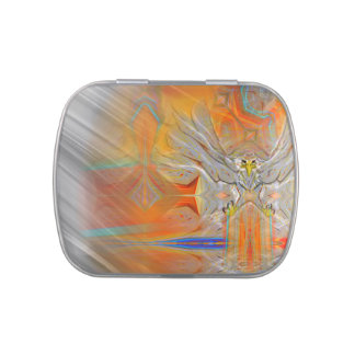 Solemnly Eagle Upswing Rising Sun Candy Tin
