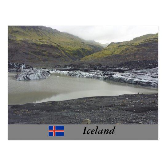 Sólheimajökull Glacier, Iceland Postcard