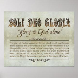 """""""Soli Deo Gloria"""" 14 x11 Poster (Archival, Matte)"""