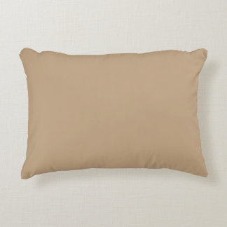 Solid Almond Accent Pillow