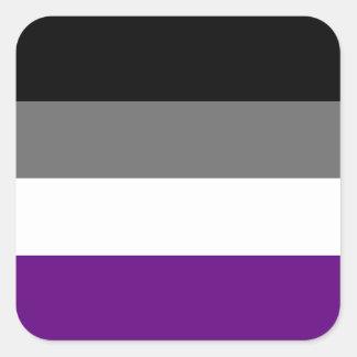 Solid Asexual Pride Flag Square Sticker
