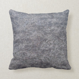 Solid Backed Gray Speckled Marble Textured Pillow