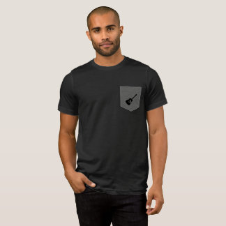 Solid Black Acoustic Guitar Design T-Shirt