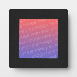 Solid Black Photo Image Frame Plaque