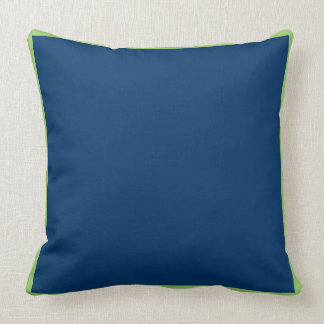 Solid Blue with green trim pillow