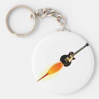 Solid Blues Basic Round Button Keychain