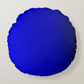 Solid Bright Cobalt Blue Round Pillow