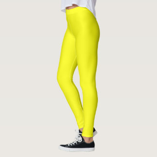 Solid Canary Yellow Decor on Leggings