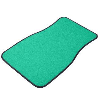 Solid Color: Caribbean Green Car Floor Carpet