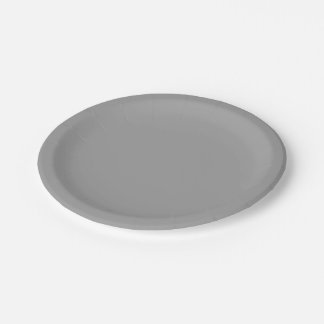 Solid Color: Dark Grey Paper Plate