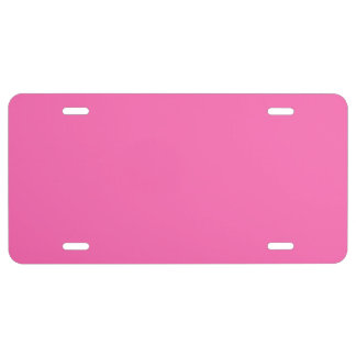 Solid Color: Hot Pink #2 License Plate